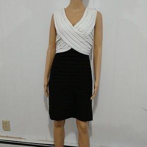 Dressbarn Collection Black & White Dress Size 12